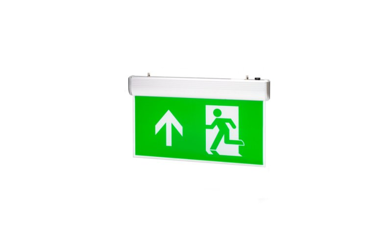 EMERGENCY EXIT HANGING SIGN – 4W LED MAINTAINED – SWITCHABLE TO