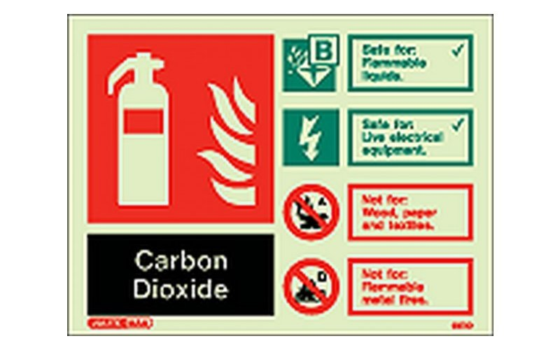 Co2 ID Sign Photoluminescent (150mm x 200mm)