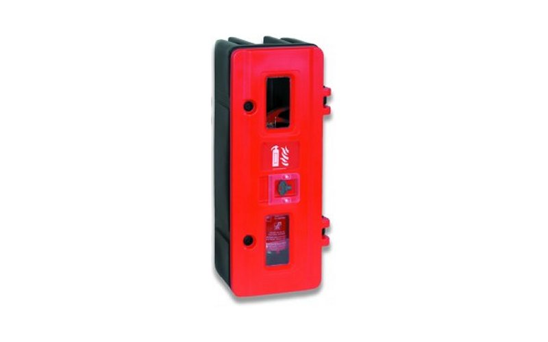 Single Fire Extinguisher Box with Lock