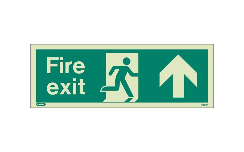Fire Exit Sign with Up Arrow